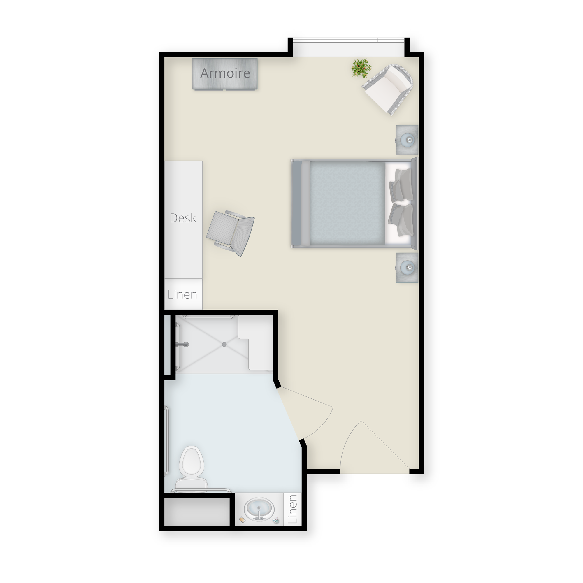 Rehab Studio Floor Plan